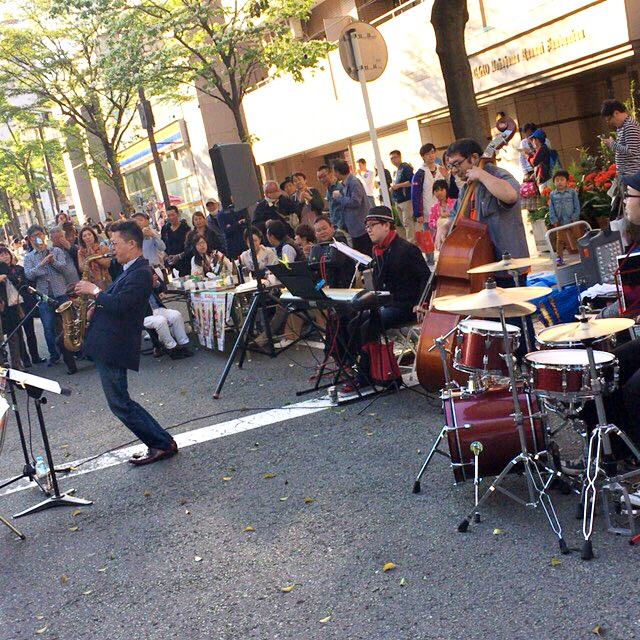 吉田町アート&ジャズフェスティバルの模様